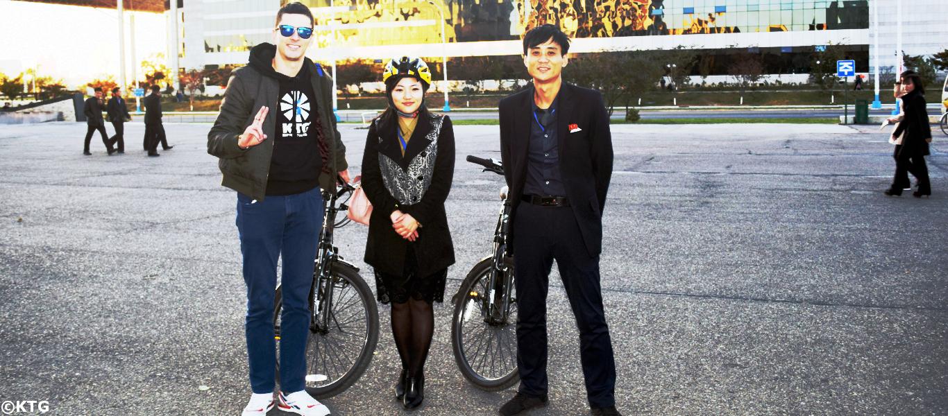 KTG ofrece excursiones en bicicleta por Pyongyang, la capital de Corea del Norte
