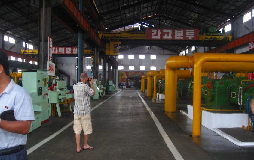 Fábrica en Hamhung en Corea del Norte