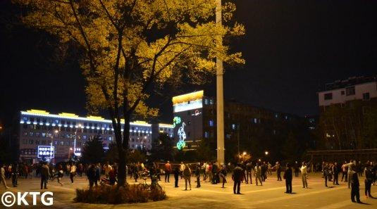 Locals playing Tijian in Dunhua, Yanbian, China