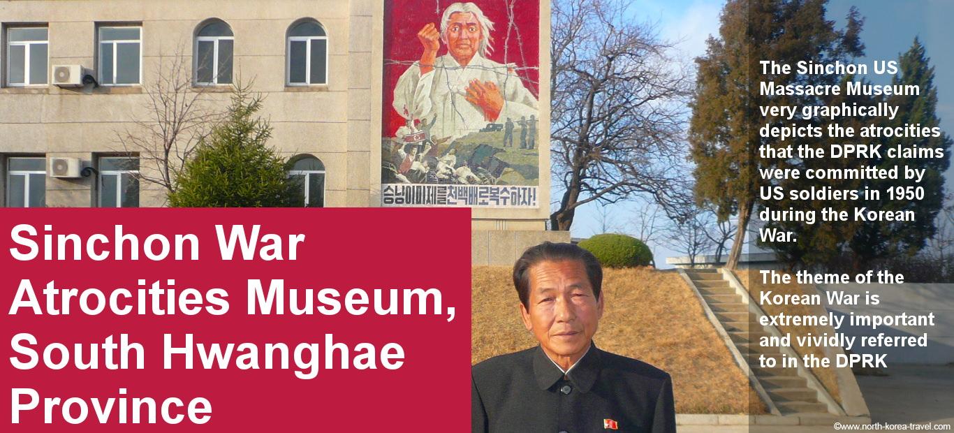 Museo en Sinchon en Corea del Norte mostrando las supuestas atrocidades cometidas por los EEUU en 1950