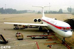 Air Koryo plane going from China to Pyongyang, North Korea. KTG Tours