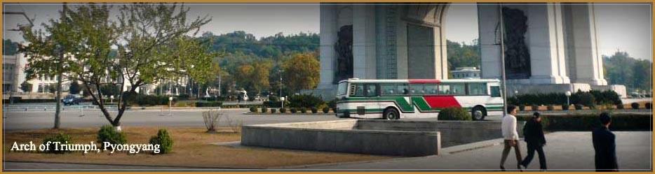 Arc de Triomphe à Pyongyang en Corée du Nord