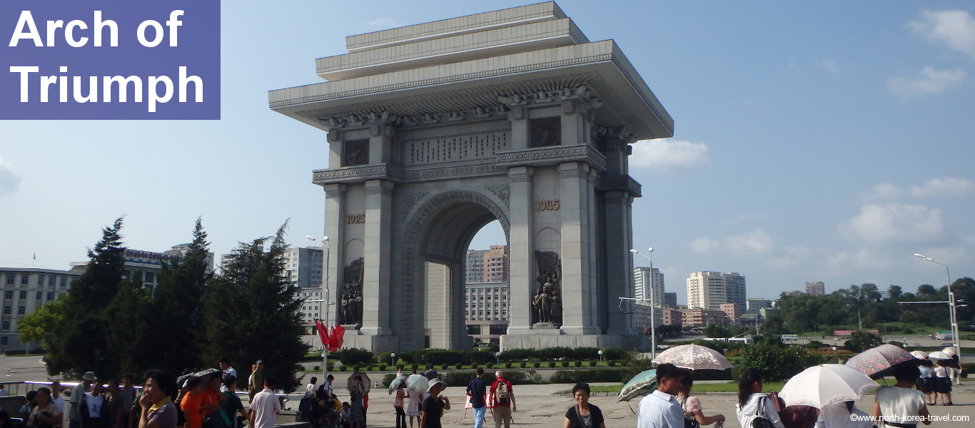 Arch of Triumph Pyongyang, North Korea travel