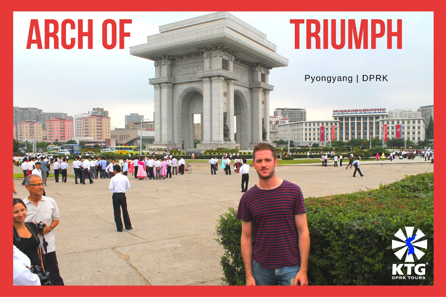 Arch of Triumph in Pyongyang capital of North Korea, DPRK, with KTG Tours