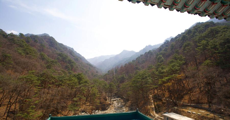 Balkon an der International Friendship Exhibition Centre in Nordkorea