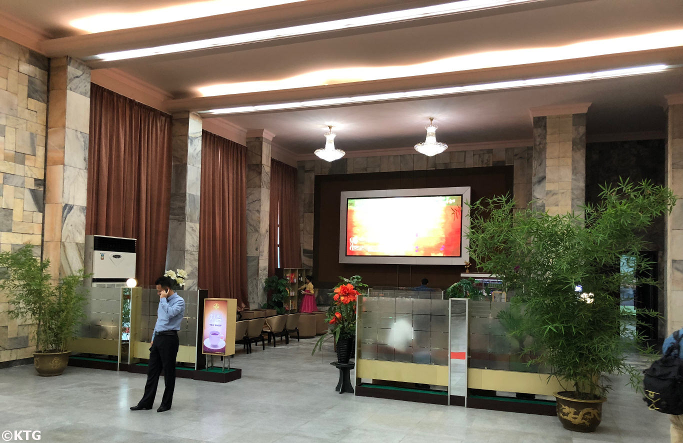 Bar at the Ryanggang Hotel lobby in Pyongyang, North Korea (DPRK)