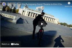 bike ride to Kim Il Sung Square in Pyongyang, North Korea