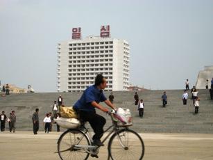 montant a velo en Coree du Nord