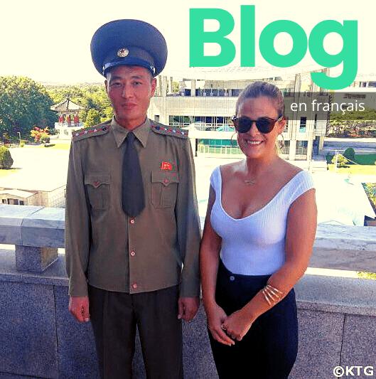 Voyageur KTG avec un soldat dans la DMZ