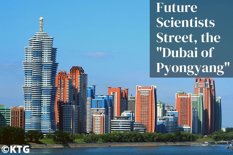 Future scientists street in Pyongyang, capital of North Korea