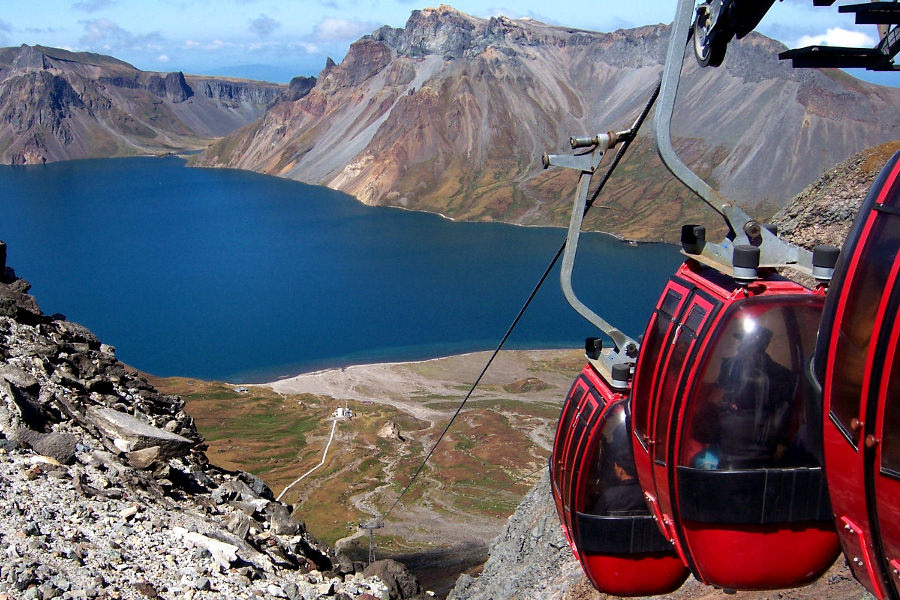 KTG's tour to Mt. Paekdu in North Korea (DPRK). Image of Heaven Lake