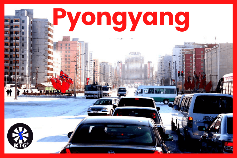 Traffic jam in Pyongyang, capital of North Korea (DPRK). Picture taken by KTG Tours