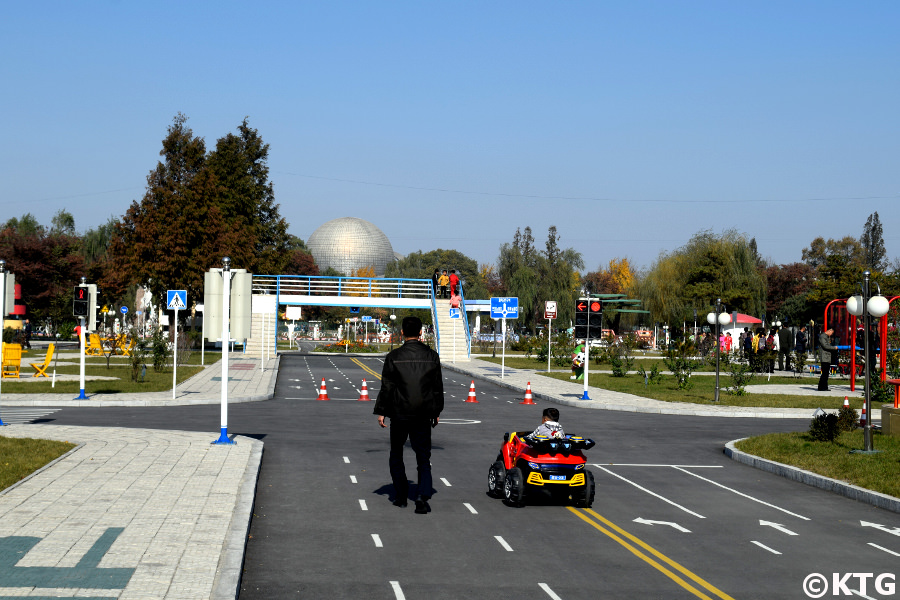 Children's traffic park in Pyongyang with KTG Tours