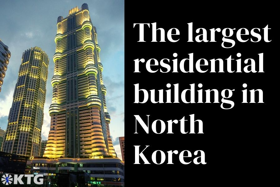 The largest residential building in North Korea is located in Ryomyong street in Pyongyang