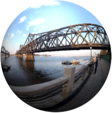Puente de la amistad que conecta a China con Corea del Norte