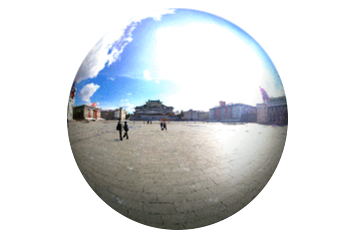 360° views of Kim Il Sung Square in Pyongyang, North Korea, from the Grand Popel's Study House. DPRK trip arranged by KTG Tours