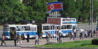 parada de autobus en corea del norte