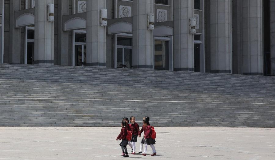 Niños en Hamhun Corea del Norte