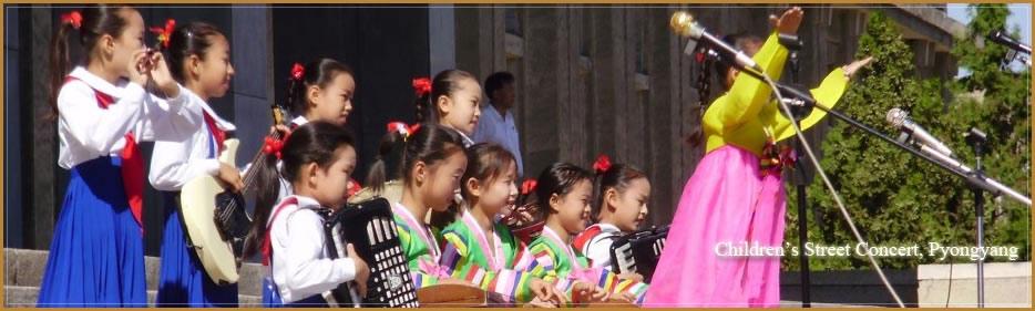 """gyermekek """"utcai koncertet Észak-Koreában"""