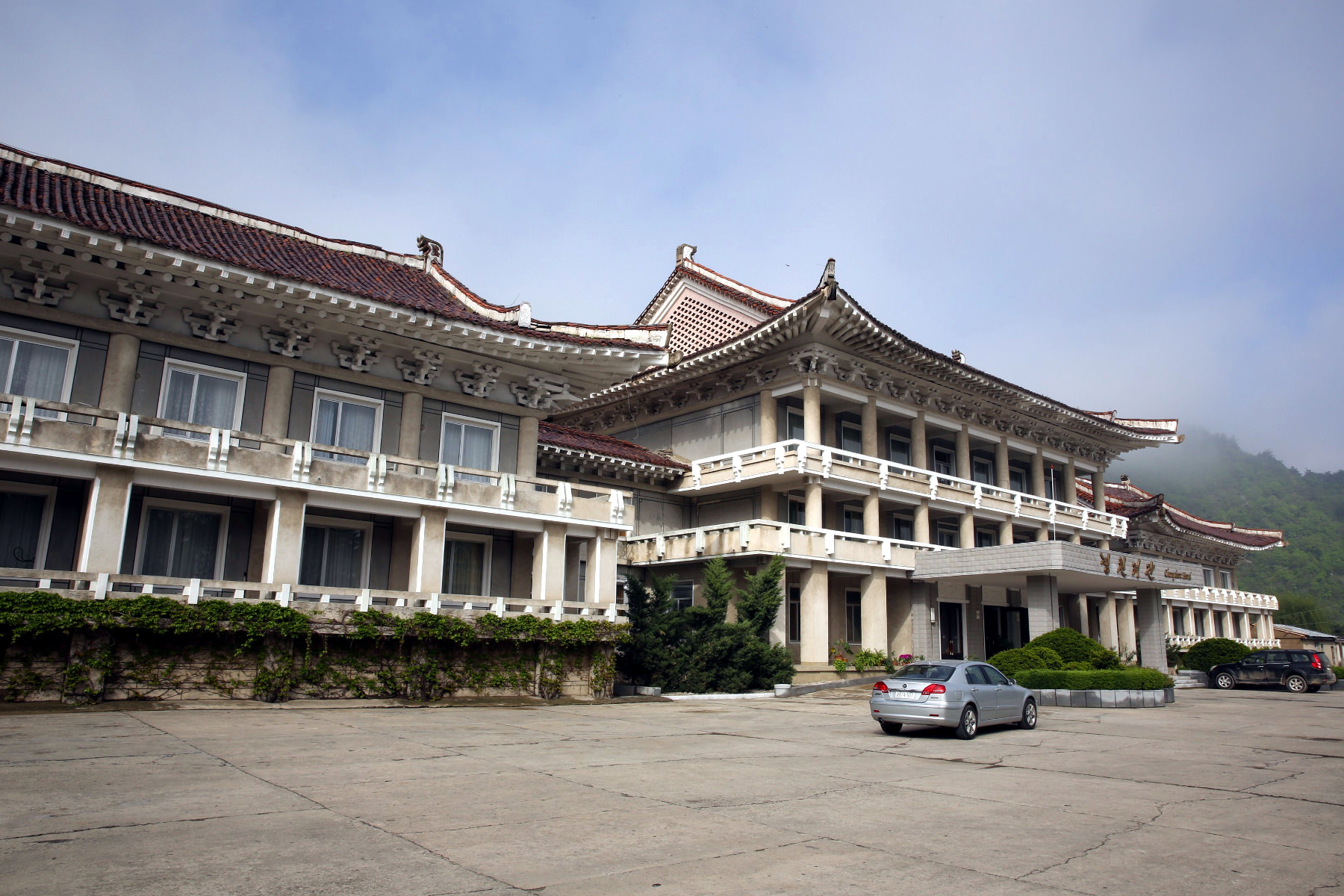 The Chongchon Hotel in Hyangsan Town, Mount Myohyang, DPRK (North Korea). Tour arranged by KTG