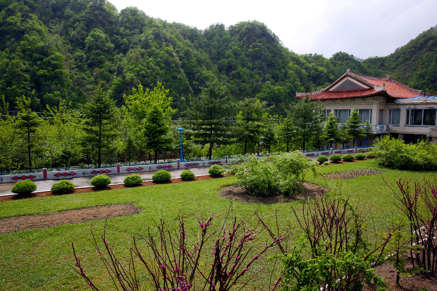 Views of Chongchon Hotel in Hyangsan Town, Mount Myohyang, North Korea (DPRK), are amazing. Trip arranged by KTG Tours
