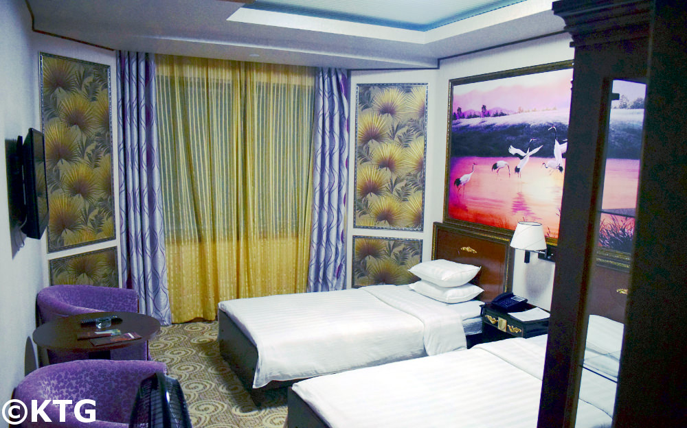 3rd Class Hotel Room, Chongnyon Hotel - aka Youth Hotel in Pyongyang capital of North Korea (DPRK)