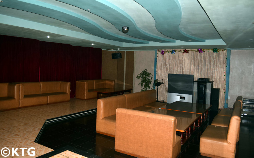 Karaoke room at the Chongnyon Hotel, Youth Hotel in Pyongyang