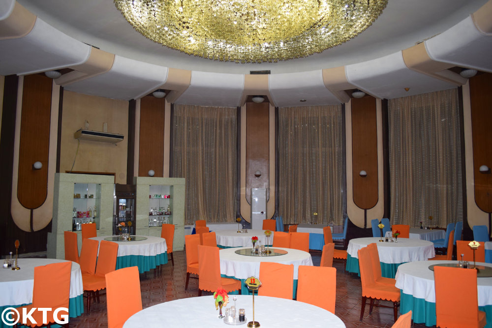 Restaurant at the Chongnyon Hotel (Youth Hotel) in Pyongyang, North Korea (DPRK)