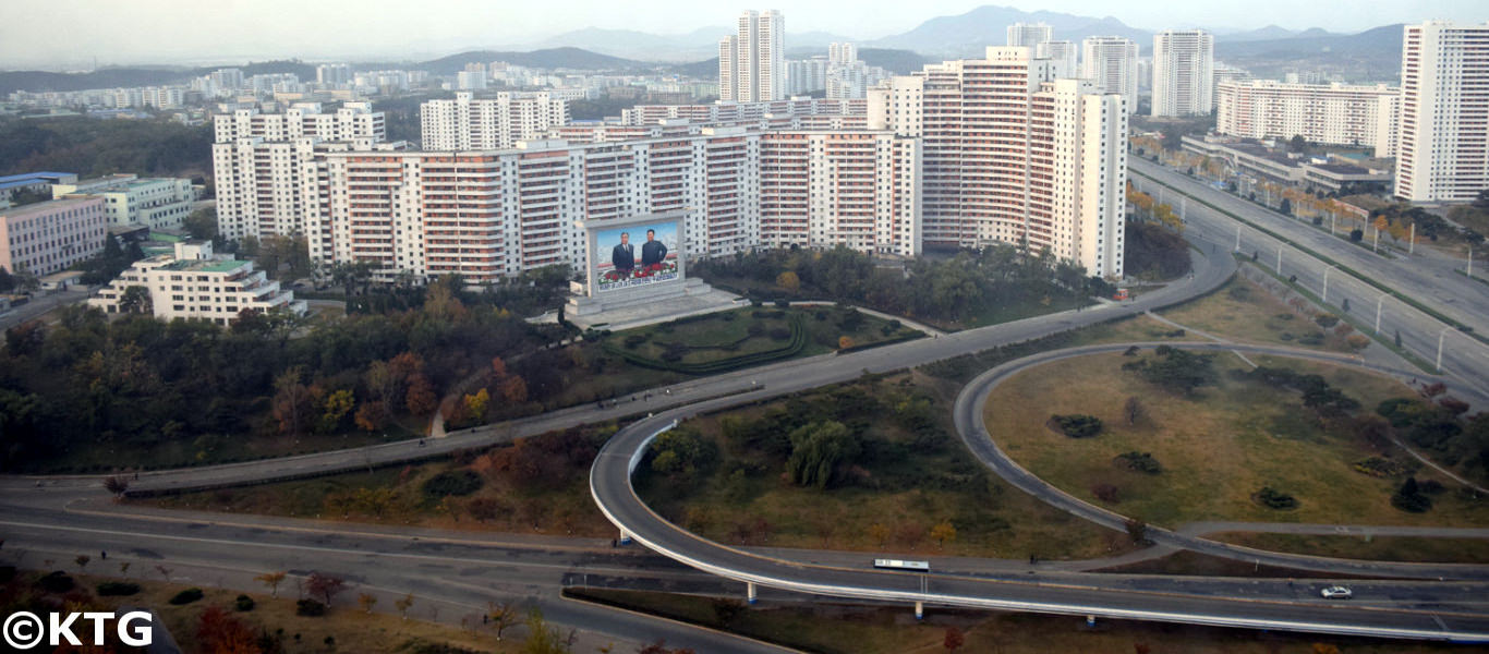 Views of the Youth Hotel in Pyongyang