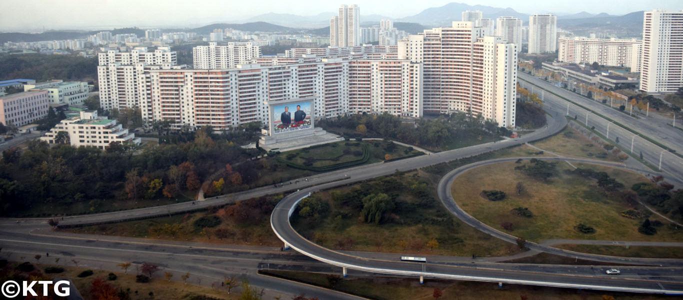 Vistas del Hotel Chongnyon en Pyongyang, Corea del Norte