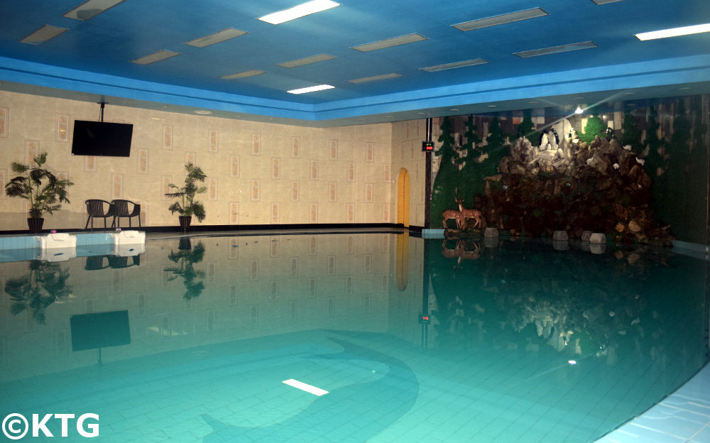 Chongnyon Hotel swimming pool in Pyongyang, North Korea