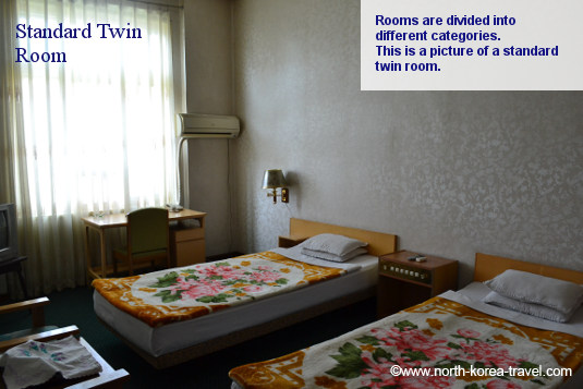 Twin room, Yanggakdo Hotel