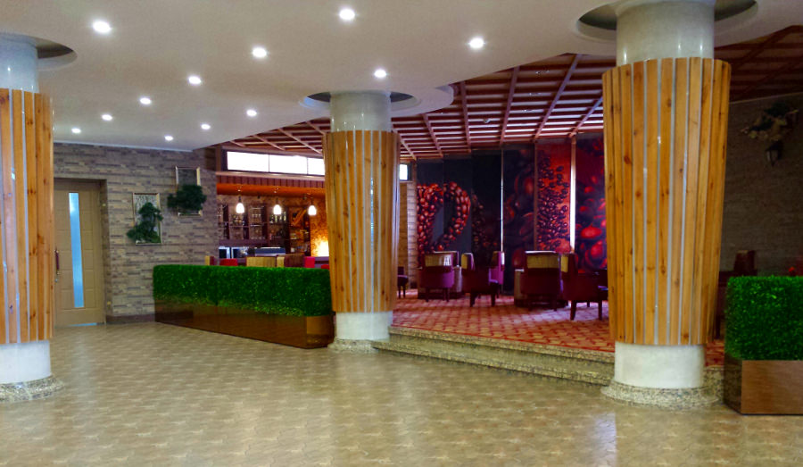 coffee shop at the Masikryong Ski resort hotel in North Korea, DPRK, with KTG tours