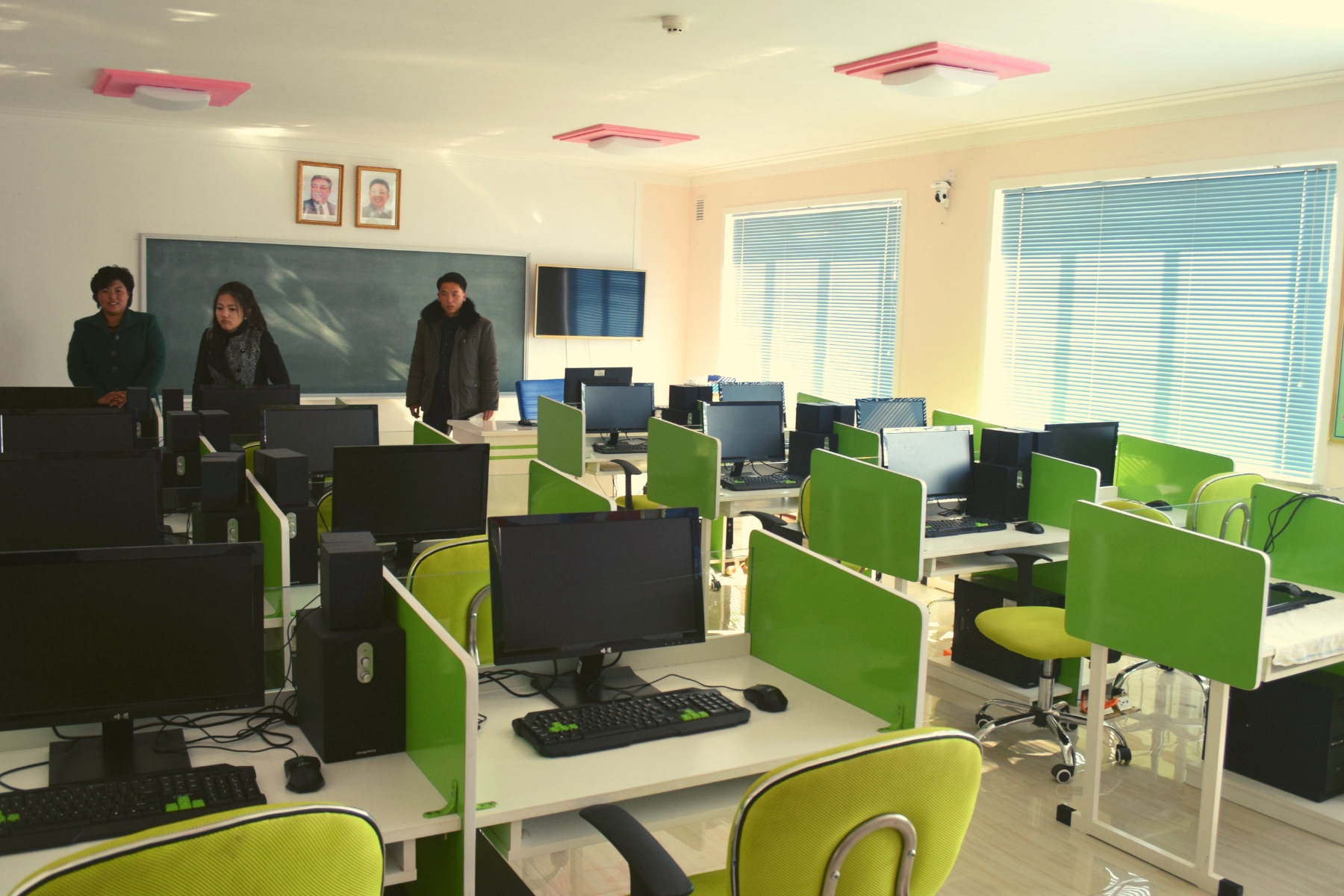 Computer room in an orphanage in North Korea (DPRK). Visit arranged by KTG