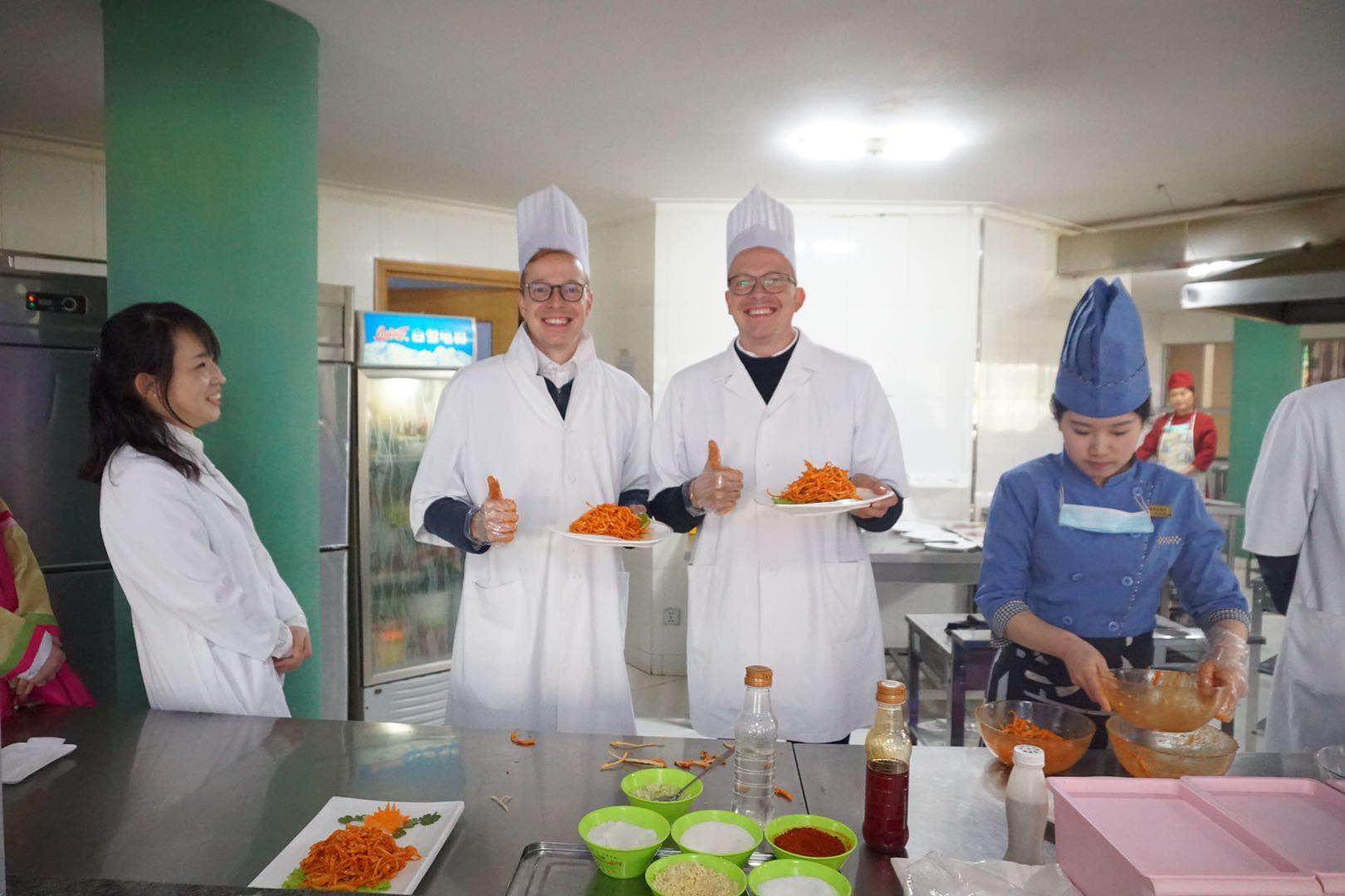 Leçon de cuisine à Pyongyang en Corée du Nord avec KTG