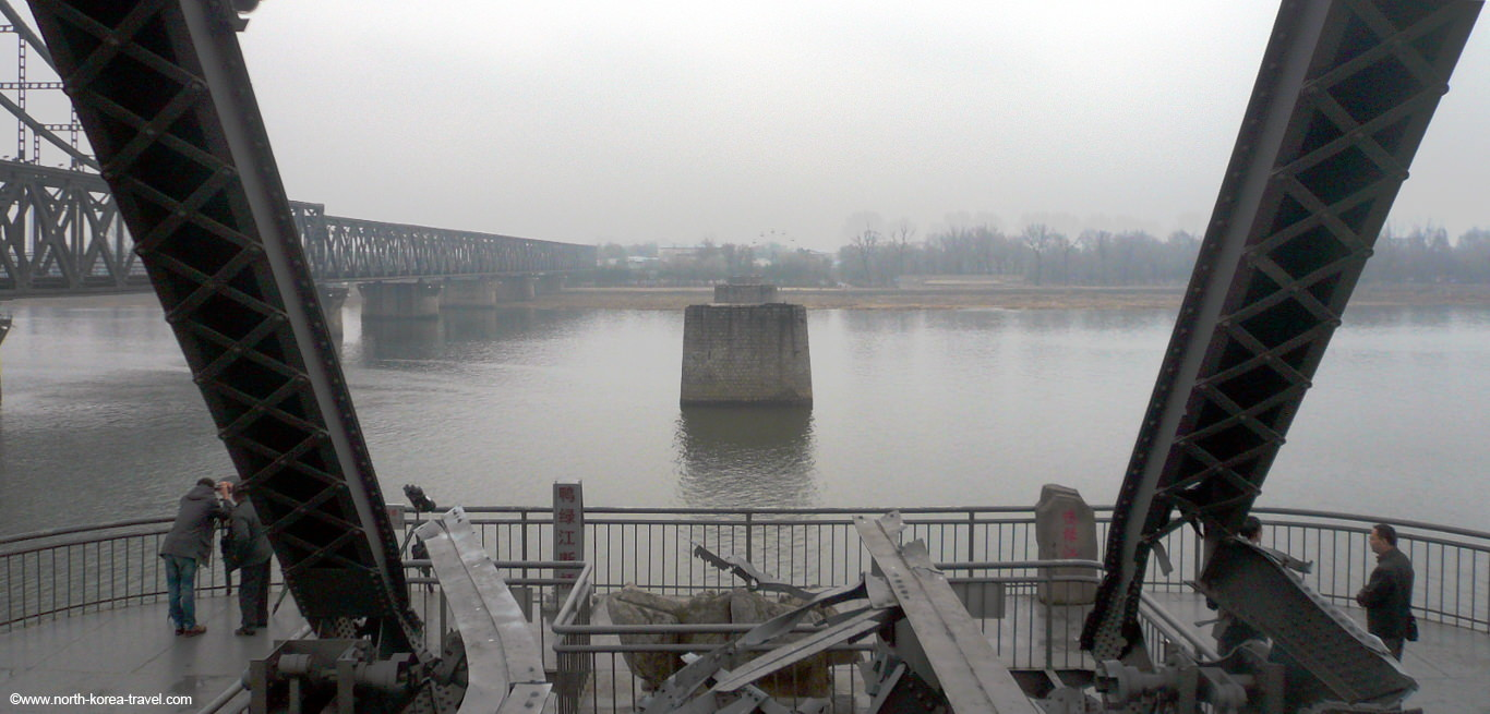 Dandong North Korea Broken Bridge