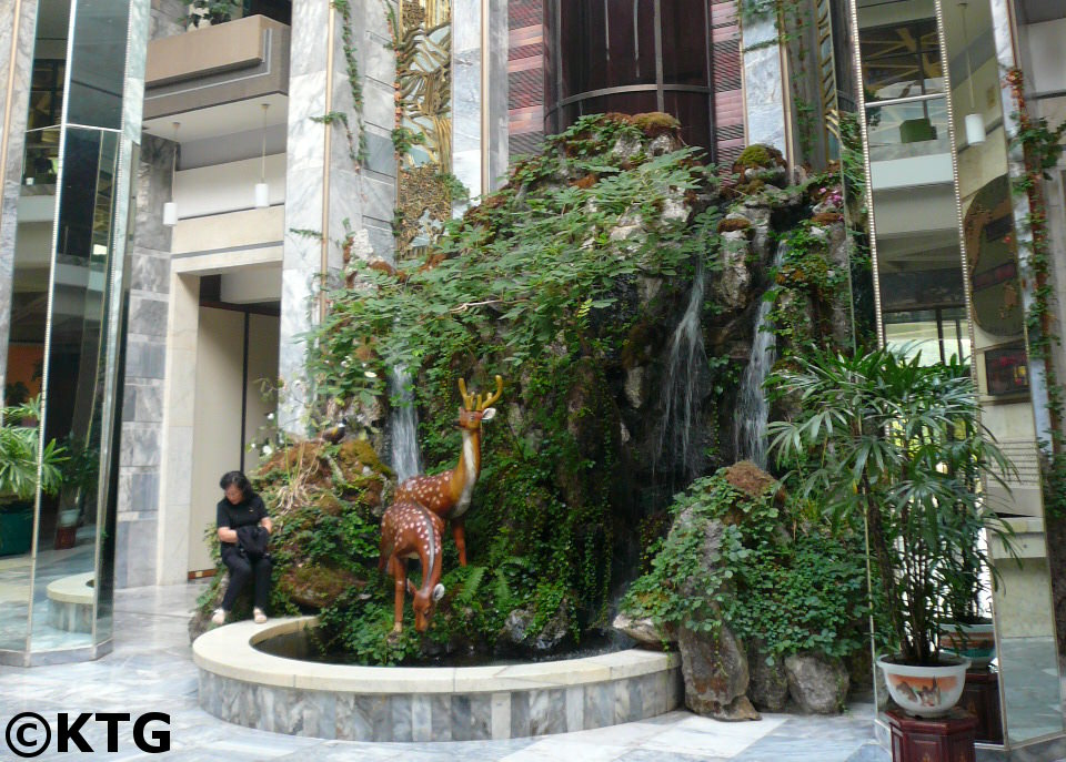 Deer at the lobby of the Hyangsan Hotel in Mount Myohyang, North Korea, in 2008 before it was renovated. Picture taken by KTG Tours