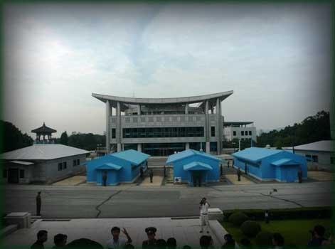 zona desmilitarizada, Panmunjom, Corea