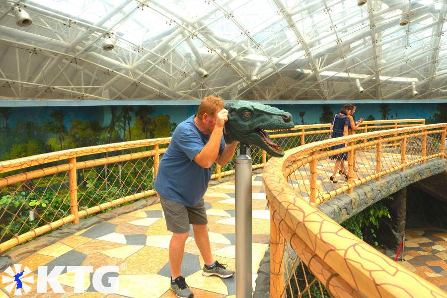 Dinosaur face at Pyongyang Zoo in North Korea