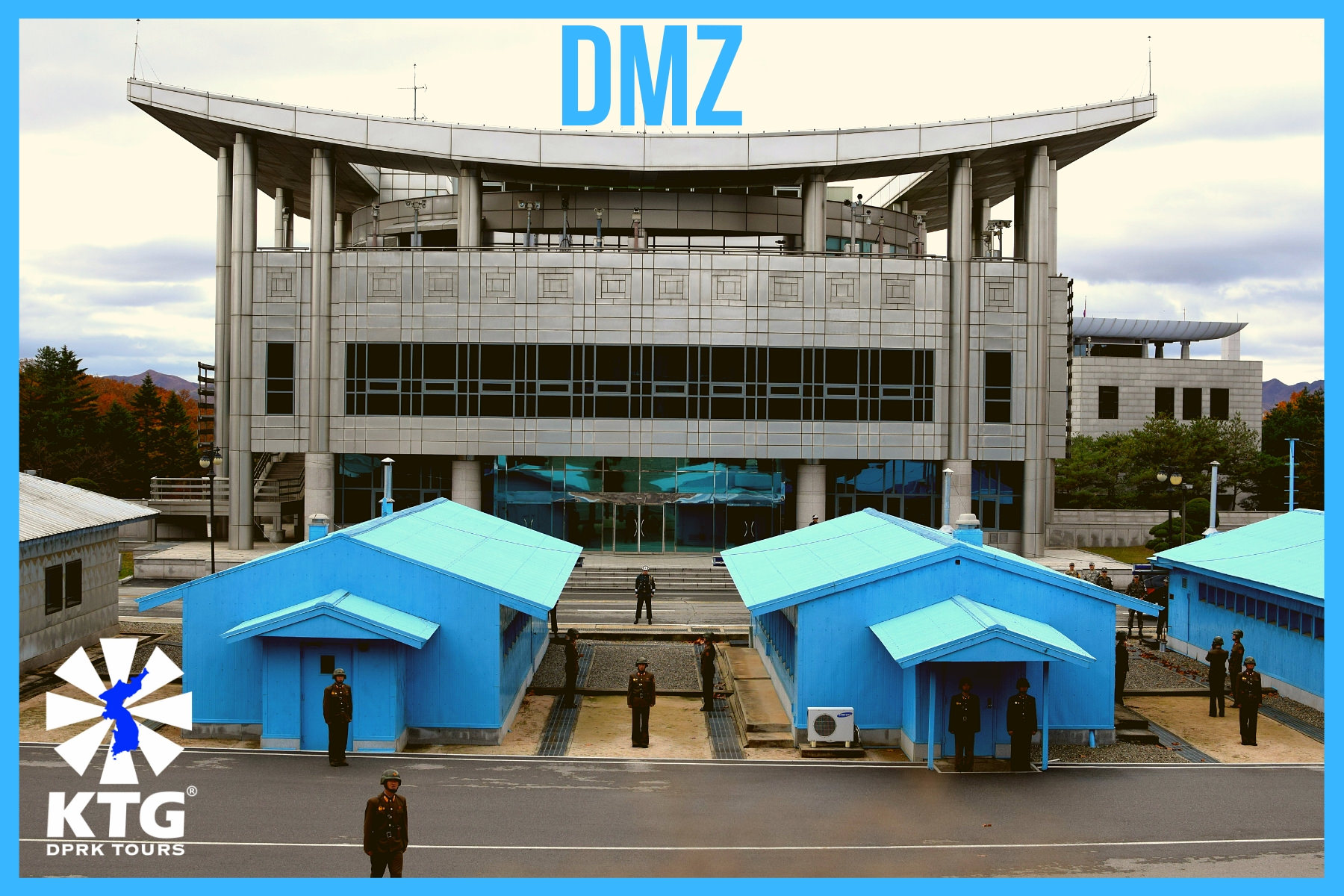 DMZ negotiation rooms in North Korea and South Korea, Panmunjom