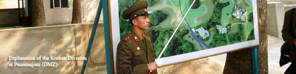 Teniente norcoreano en la DMZ