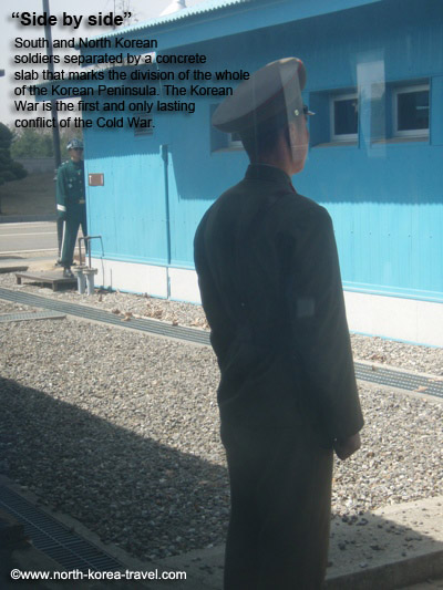 DMZ North and South Korean soldier