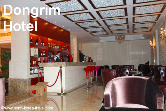 Coffee shop at the Dongrim Hotel in the DPRK (North Korea)
