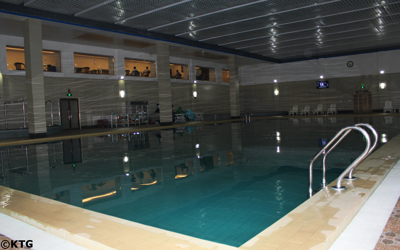 Swimming pool at the Dongrim Hotel in North Korea, DPRK, with KTG Tours