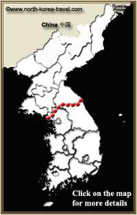 North Korea interactive map