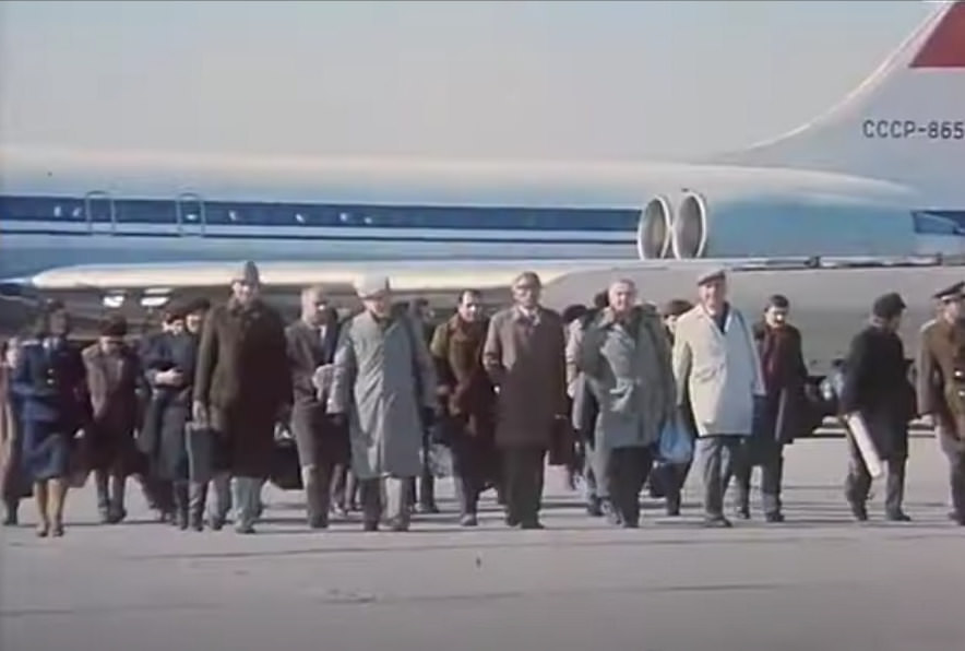 Plane from the USSR in Pyongyang in a North Korean movie