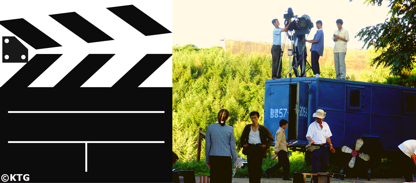 North Korean movie being filmed at the Korean Film Studio in Pyongyang, DPRK