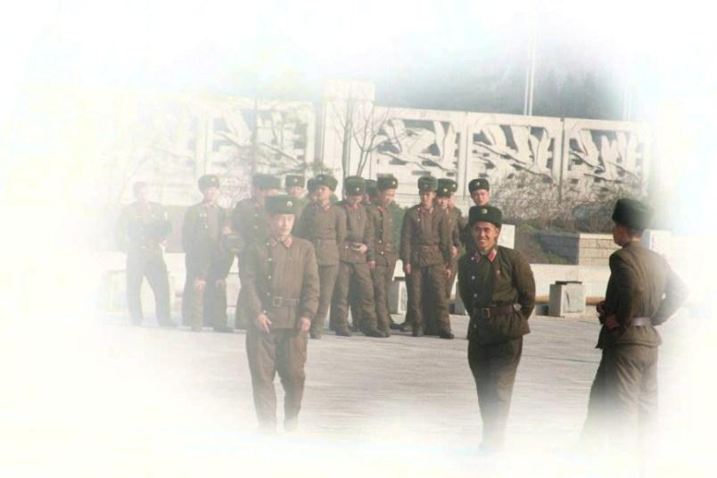 soldats de la Coree du Nord