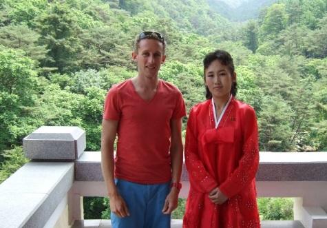 KTG traveller at Mount Myohyang in North Korea, DPRK