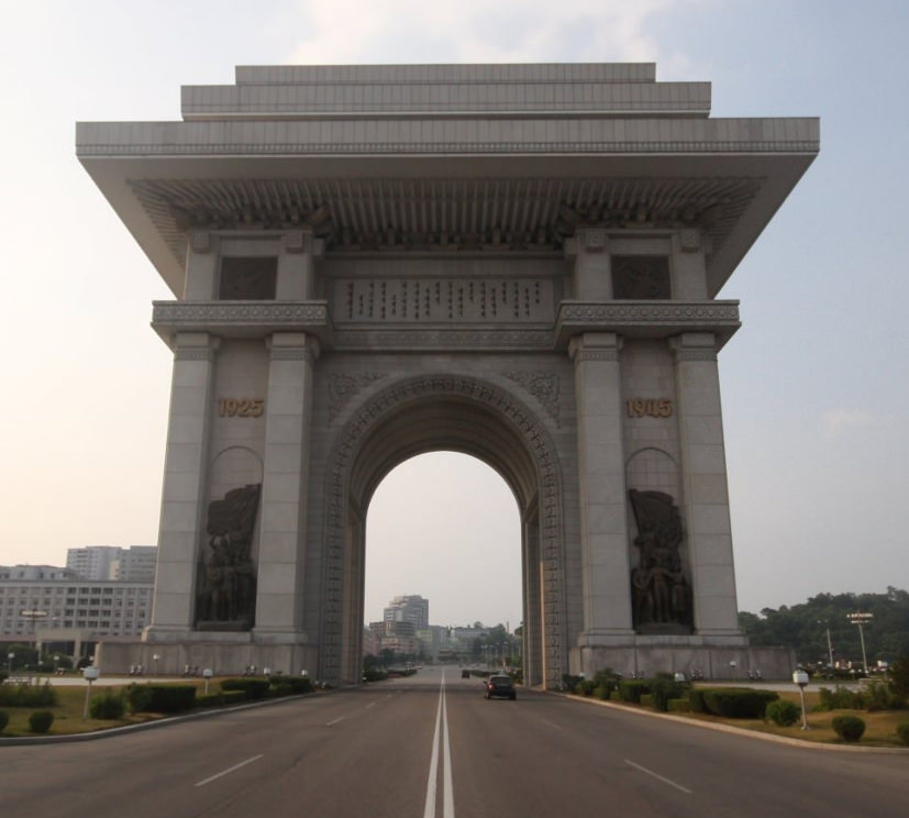 Arch of Triumph in Pyongyang North Korea with KTG Tours on our June Summer tour in North Korea